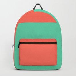 Living Coral and Sea Foam Mint Stripe Backpack