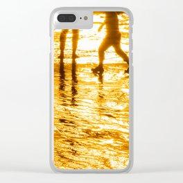 sunset golden stars summer Clear iPhone Case