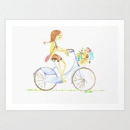 let's take a bike Art Print