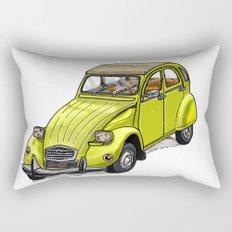 Yellow 2CV Rectangular Pillow