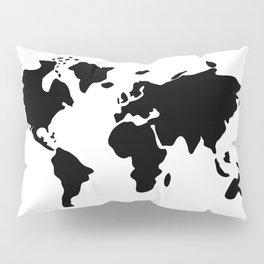 modern black world map Pillow Sham