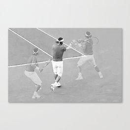 Rafa's running backhand Canvas Print