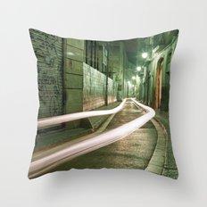 Barcelona, Spain night streets. Throw Pillow