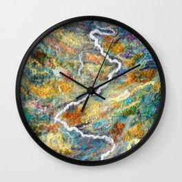 Remote Valley in Alaska Wall Clock