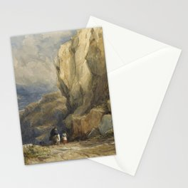 David Cox R.W.S. BIRMINGHAM 1783-1859 TRAVELLERS ON A MOUNTAINOUS PATH, NORTH WALES Stationery Cards