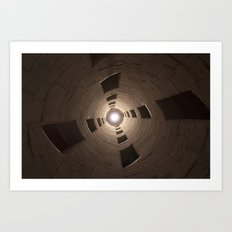 Chambord Castle - Stairs Art Print