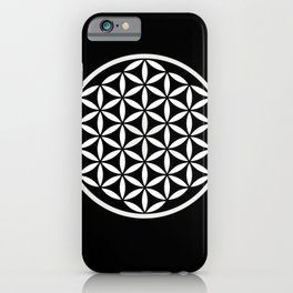Flower of Life Yin Yang iPhone Case