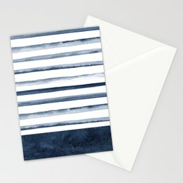 Watercolor Stripes Pattern Stationery Cards