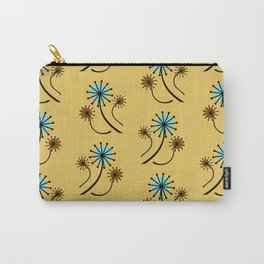 Mid Century Modern Dandelions on yellow Carry-All Pouch