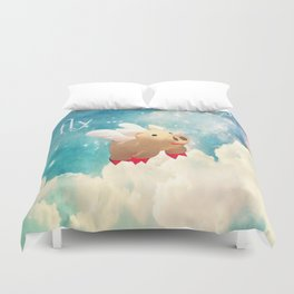 When Pigs Fly Duvet Cover
