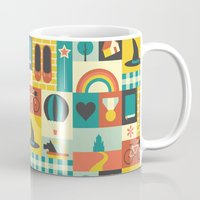 oz Mugs featuring Oz by Ariel Wilson