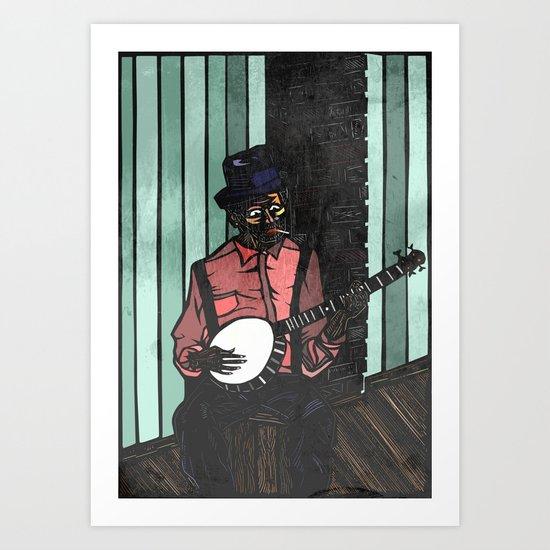 Banjo Man Art Print