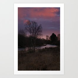 Winter Sunrise At Chasewater Art Print