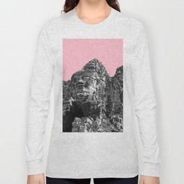 Part of Angkor Wat with pink Long Sleeve T-shirt