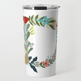 Monogram letter D Travel Mug