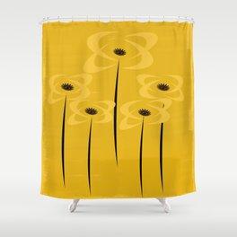 Black Eyed Fall Flowers Shower Curtain