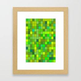 GREEN  SQUARE Framed Art Print