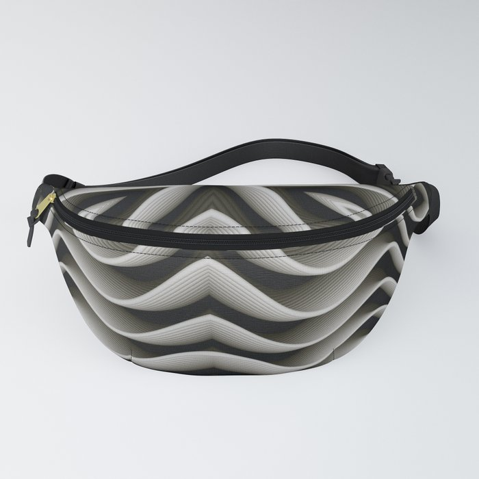 Exo-skelton 3D Optical Illusion Fanny Pack