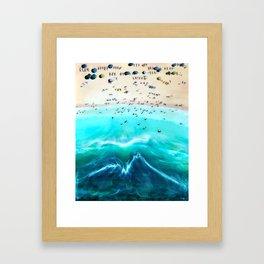 Surf Lessons Framed Art Print