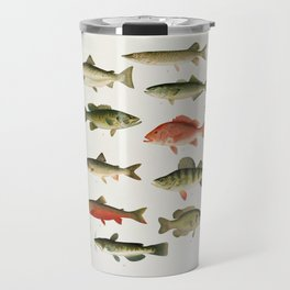 Illustrated North America Game Fish Identification Chart Travel Mug