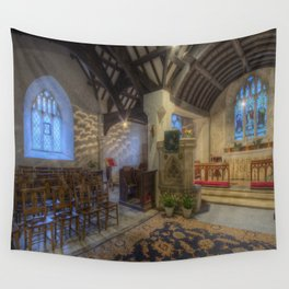 Church at Twilight Wall Tapestry