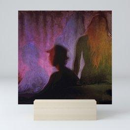 Shadows on the wall Mini Art Print