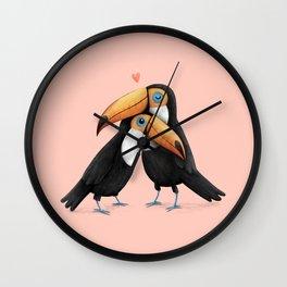 Toucan Love Wall Clock