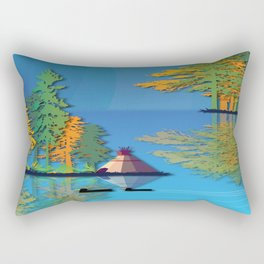Land Of The American Natives No. 5 Rectangular Pillow