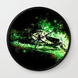 alligator baby eye wsb Wall Clock