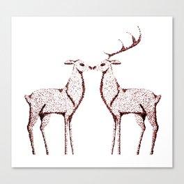 Deers love Canvas Print