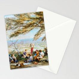 12,000pixel-500dpi - Samuel Palmer - The Rustic Dinner - Digital Remastered Edition Stationery Cards