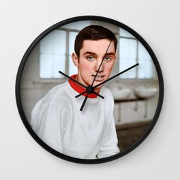 Young George Best in colour Wall Clock