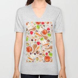 Fruit and Vegetables  Unisex V-Neck
