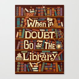 Go to the library Canvas Print