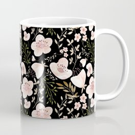 Midnight Rose Garden Pattern Coffee Mug