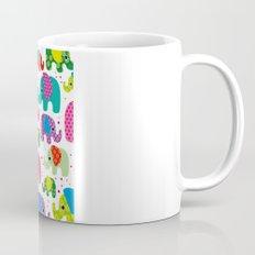 Colorful india elephant kids illustration pattern Mug