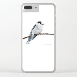 Gray Jay by Teresa Thompson Clear iPhone Case