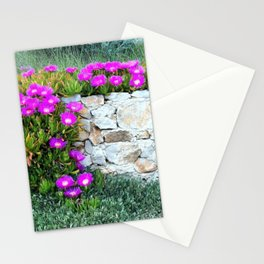 Wild Flowers On The Wall Stationery Cards