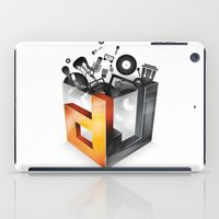 dj iPad Cases featuring DJ by DeanDesign