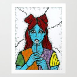 SALLY - THE NIGHTMARE BEFORE CHRISTMAS Art Print