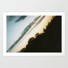 Diagonal (Norfolk) Landscape Art Print