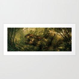 Dino Riders Art Print