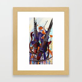 Melting Notes Framed Art Print