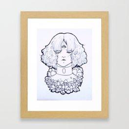 Calendula Girl Framed Art Print