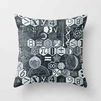 math Throw Pillows featuring Math Class by Chicca Besso