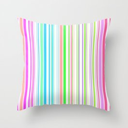 Stripes Colorful Simple Pattern Summer Throw Pillow