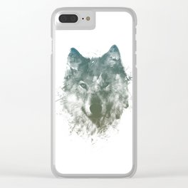 Wolf Like Me Clear iPhone Case