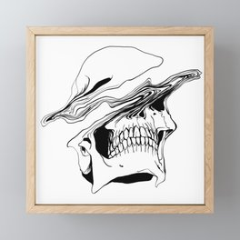 Skull (Liquify) Framed Mini Art Print