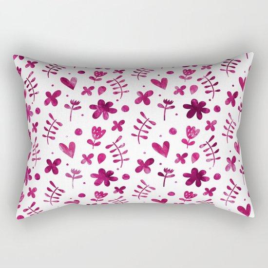 Colorful Lovely Pattern IV Rectangular Pillow