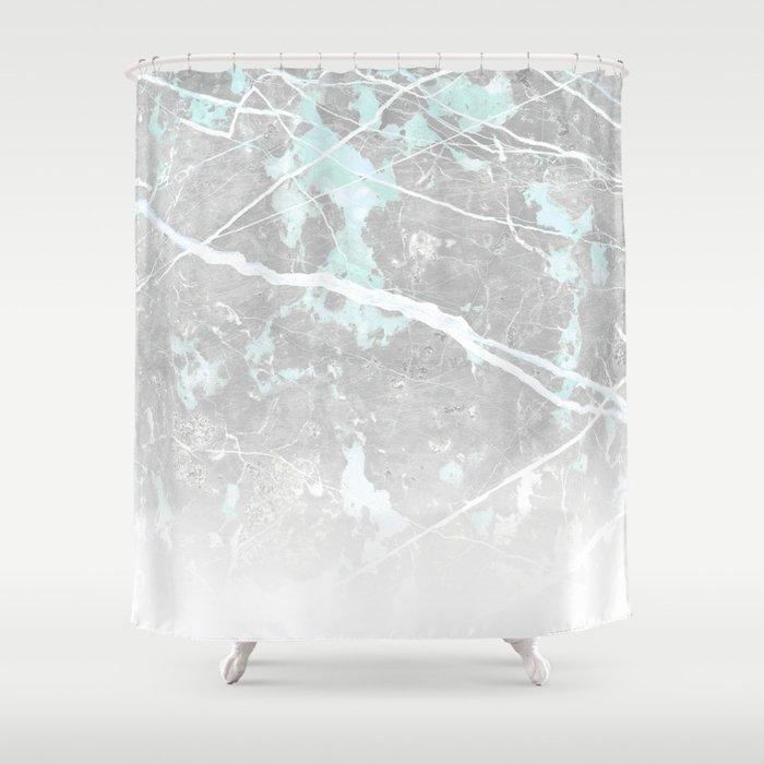 Pastel Teal Grey Marble